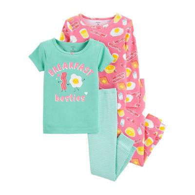 Carter's 4-Pc. Cotton Pajama Set - Toddler Girl