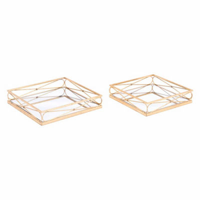 Twisted Set of 2 Trays