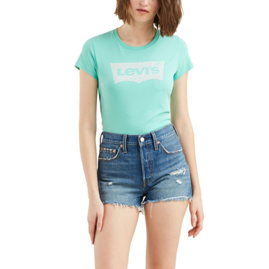 Levi's Slim Short Sleeve Crew Neck T-Shirt-Womens