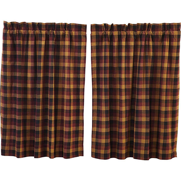 Ashton & Willow Settlement Primitive Check Tier Curtain Set of 2
