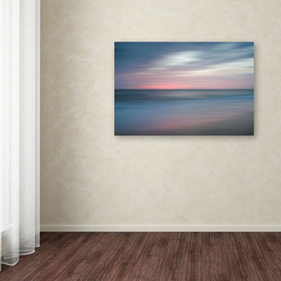 Trademark Fine Art PIPA Fine Art The Colors of Evening on the Beach Giclee Canvas Art