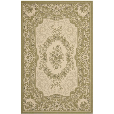 Safavieh Courtyard Collection Dorothea Oriental Indoor/Outdoor Area Rug