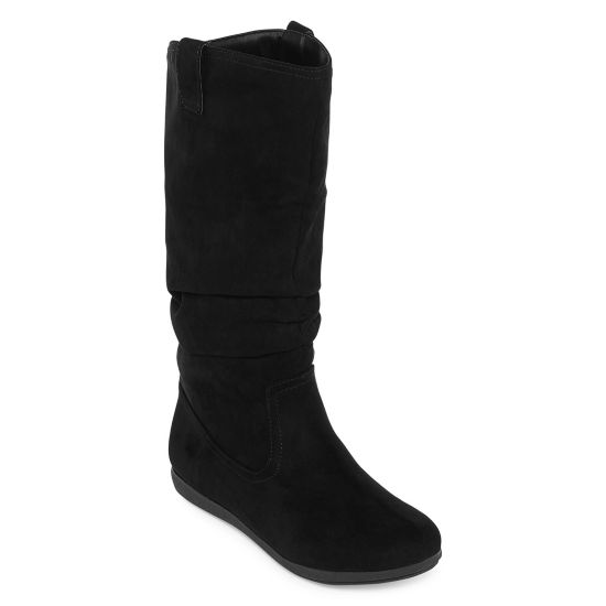 Arizona Womens Kerri Slouch Boots Flat Heel Pull-on