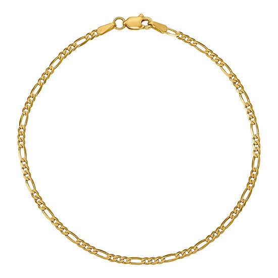 b982f35269c7b 14K Gold 7 Inch Solid Figaro Chain Bracelet