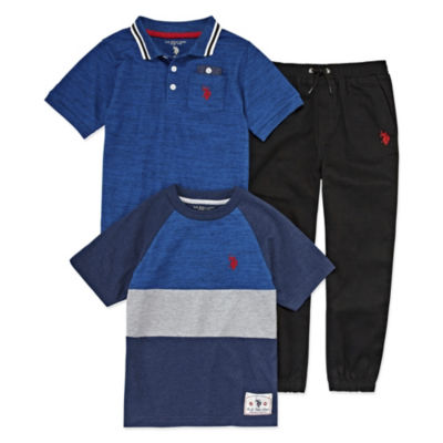 U.S. Polo Assn. 3-pc. Pant Set Boys