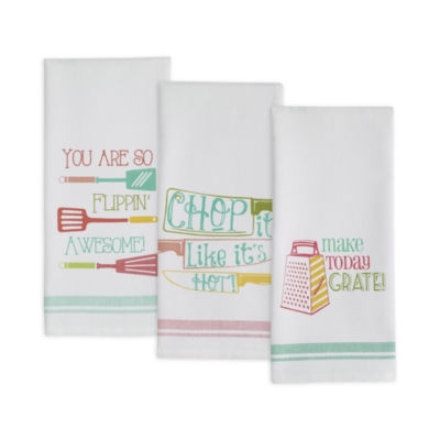 Cheeky Chef Printed Dishtowel Set - Set of 3