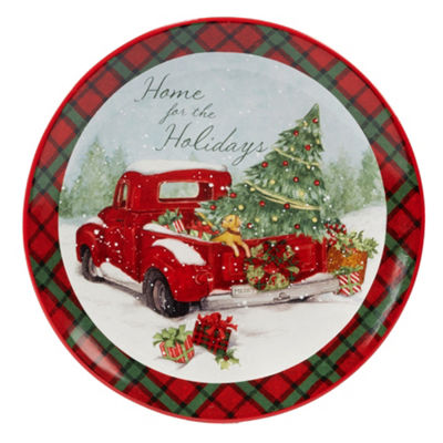 Certified International Home For Christmas Serving Platter