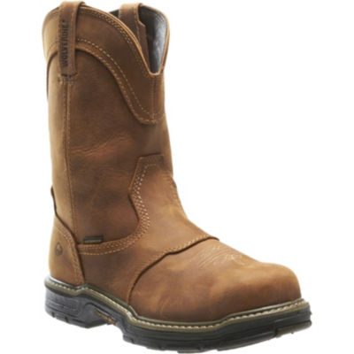 Wolverine Mens Anthem Waterproof Slip Resistant Steel Toe Work Boots Pull-on