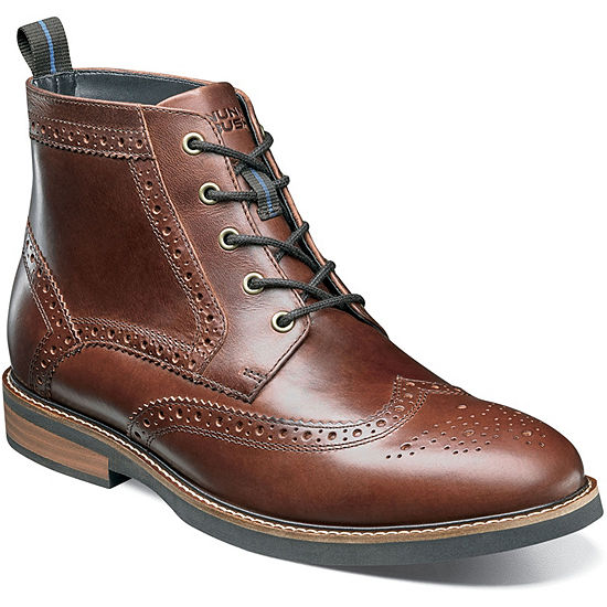 Nunn Bush Mens Odel Lace Up Flat Heel Boots