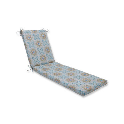 Pillow Perfect Astrid Aqua Oversized Patio Chaise Lounge Cushion
