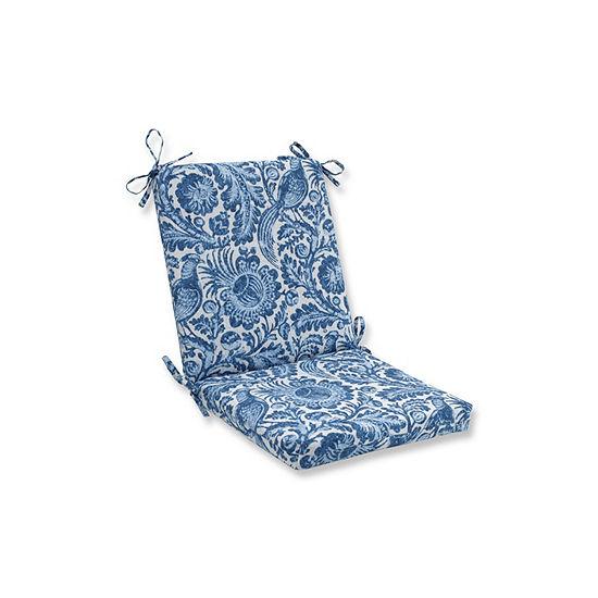 Pillow Perfect Tucker Resist Azure Squared Corners Patio Chair Cushion
