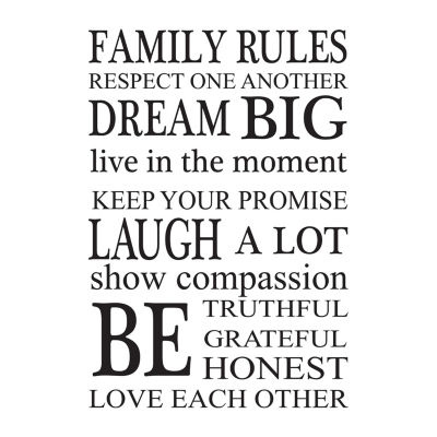 Brewster Wall Family Rules Wall Art Kit Wall Decal