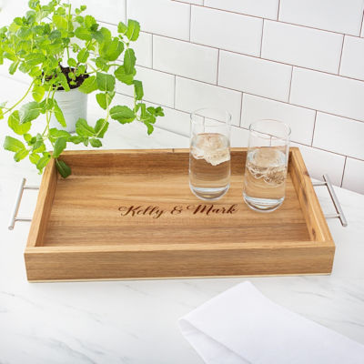 Cathy's Concepts Personalized Tray With Metal Handles Serving Tray