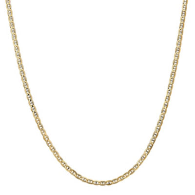 14K Gold 20 Inch Solid Anchor Chain Necklace