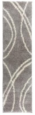 World Rug Gallery Soft Cozy Contemporary Stripe Shag Runner