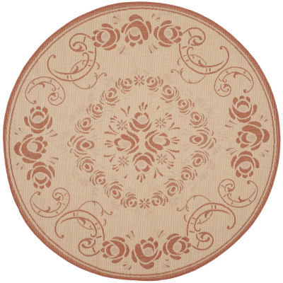 Safavieh Kalya Floral Round Indoor/Outdoor Area Rug
