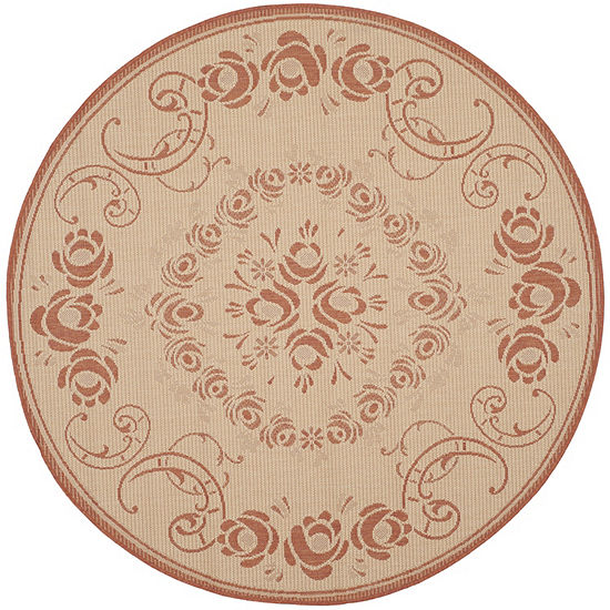Safavieh Kalya Floral Round Indoor Outdoor Area Rug Jcpenney