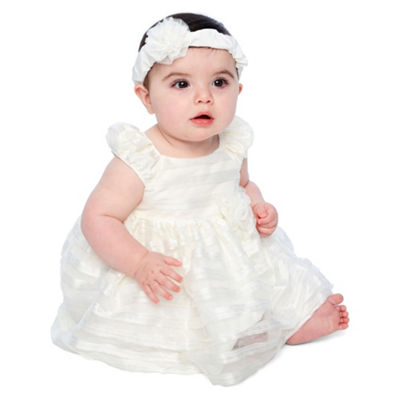 Marmellata Short Sleeve A-Line Dress - Baby Girls