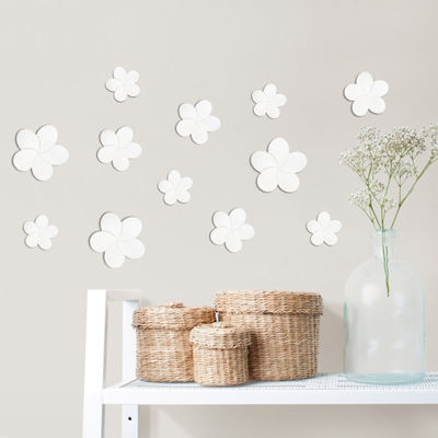 Brewster Wall Flock Of Flowers 3d Wall Kit Twinpack Wall Decal