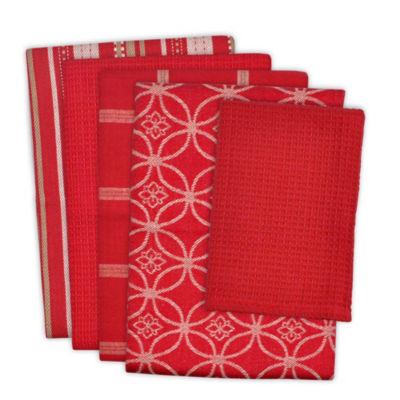 Dishtowel & Dishcloth Set - Set of 5