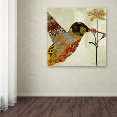 Trademark Fine Art Color Bakery Hummingbird Brocade III Giclee Canvas Art