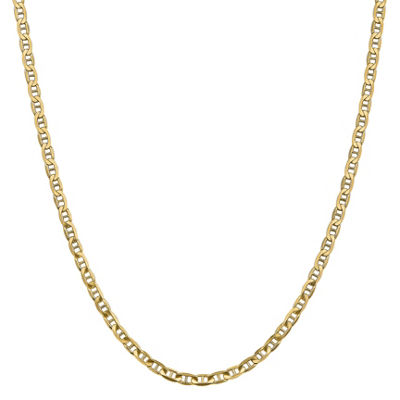 14K Gold 22 Inch Solid Anchor Chain Necklace