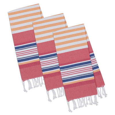 Beachy Stripes Fouta Towel Set - Set of 3