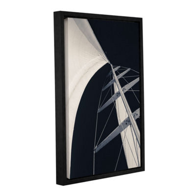 Obsession Sails 005 BW Floater-Framed Gallery Wrapped Canvas