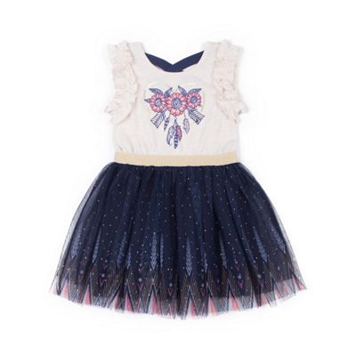 Little Lass Sleeveless Festival Dress - Baby Girls