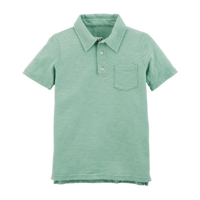 Carter's Short Sleeve Knit Polo Shirt - Preschool Boys