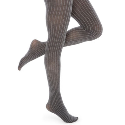 Mixit Charcoal Pinstripe Tights