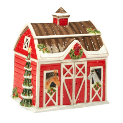 Certified International Christmas On The Farm Cookie Jar