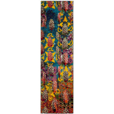 Safavieh Mayson Abstract Shag Rectangular Runner