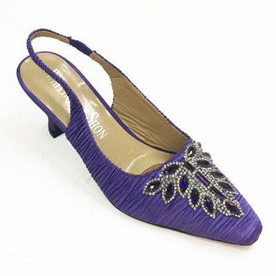 Whittall & Shon Womens Leaf Pumps Soft Toe Cone Heel