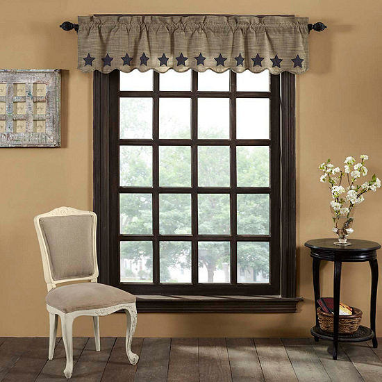 Primitive Window Vincent Scalloped Valance