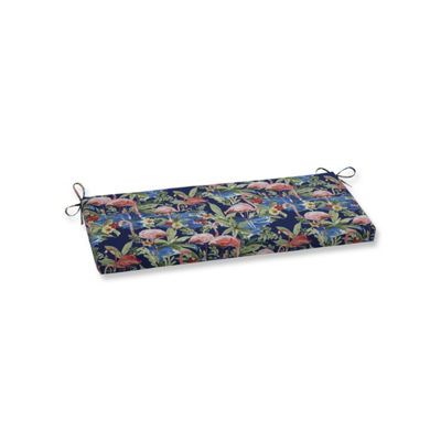 Pillow Perfect Flamingoing Lagoon Patio Bench Cushion