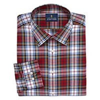 Deals on Stafford Tartan Trend Easy-Care Stretch Mens Stretch Shirt