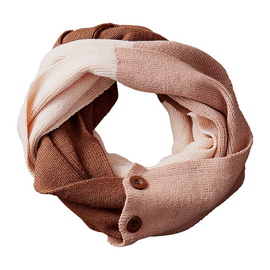 Tickled Pink Colorblock Infinity Cold Weather Scarf