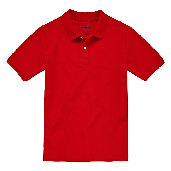 Izod Exclusive Pique Boys Short Sleeve Stretch Polo Shirt - Big Kid