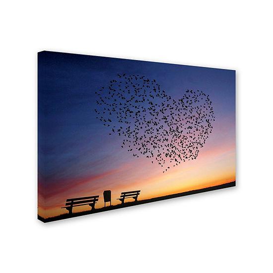 Trademark Fine Art Annemieke Love Is In The Air Giclee Canvas Art