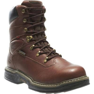 Wolverine Mens Buccaneer Waterproof Slip Resistant Steel Toe Work Boots Lace-up