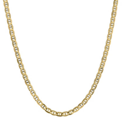 14K Gold Solid Anchor 16 Inch Chain Necklace