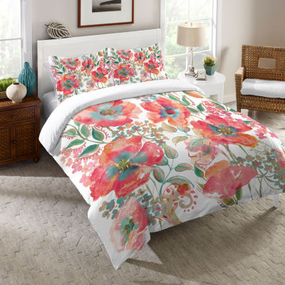 Laural Home Bohemian Poppies Comforter