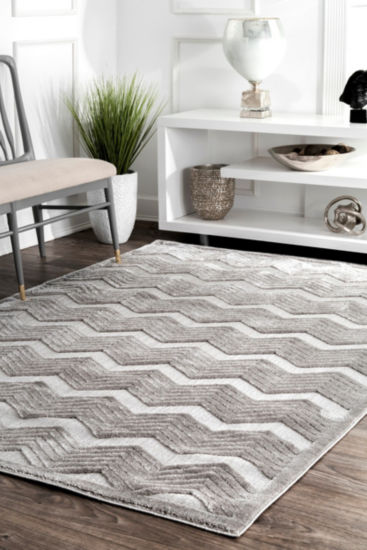 nuLoom Sallee High-Low Chevron Area Rug