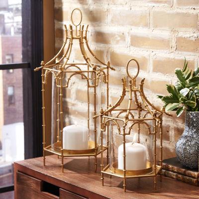Two's Company Set Of 2 Pagoda Lanterns