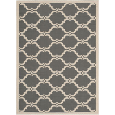 Safavieh Courtyard Collection Jobeth Geometric Indoor/Outdoor Area Rug