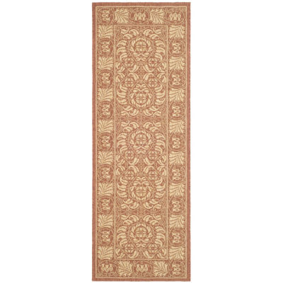 Safavieh Courtyard Collection Lucy Floral Indoor/Outdoor Runner Rug