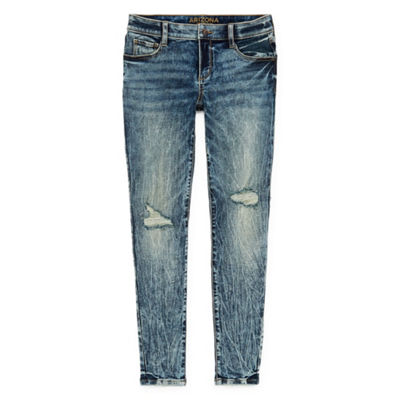 Brooklyn - Top Pick - Arizona Skinny Fit Ripped Acid Wash Jeggings - Juniors