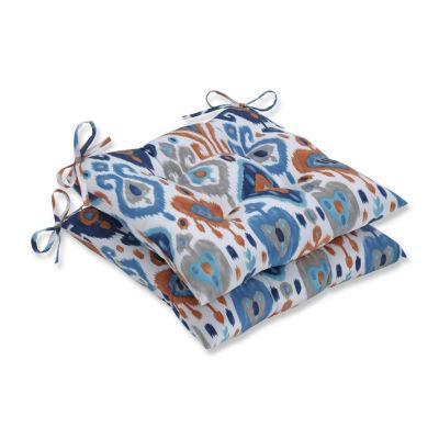 Pillow Perfect Set of 2 Paso Azure Wrought Iron Patio Seat Cushion