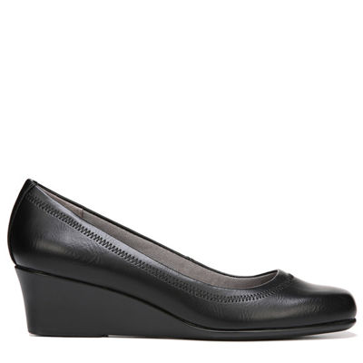 Lifestride Womens Groovy Slip-On Shoe Square Toe-Wide Width